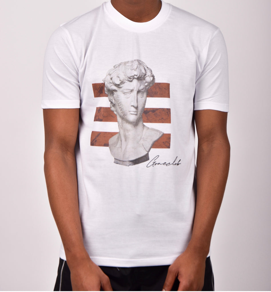 GC Greek Statue Signature T-Shirt - White
