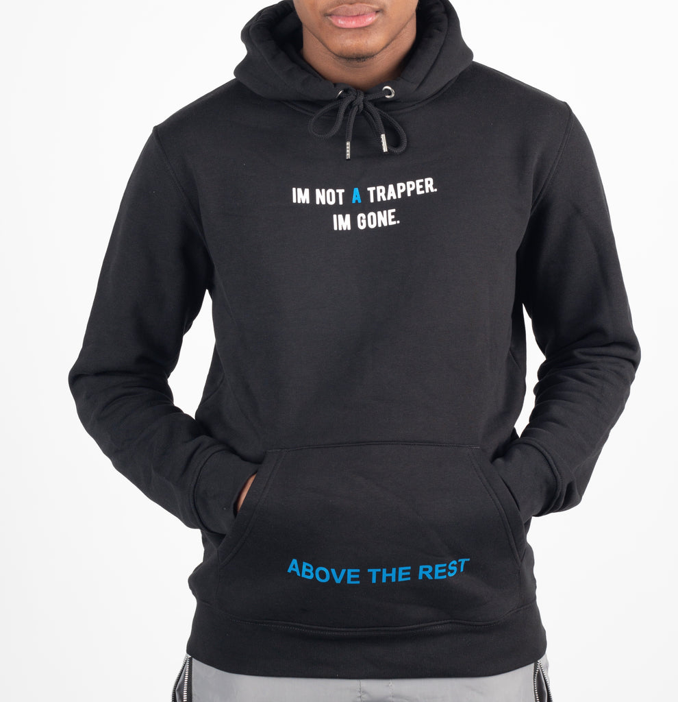 IM NOT A TRAPPER Hoodie - Black/Blue