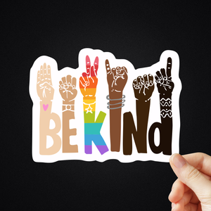 "5"" Be Kind Sticker"