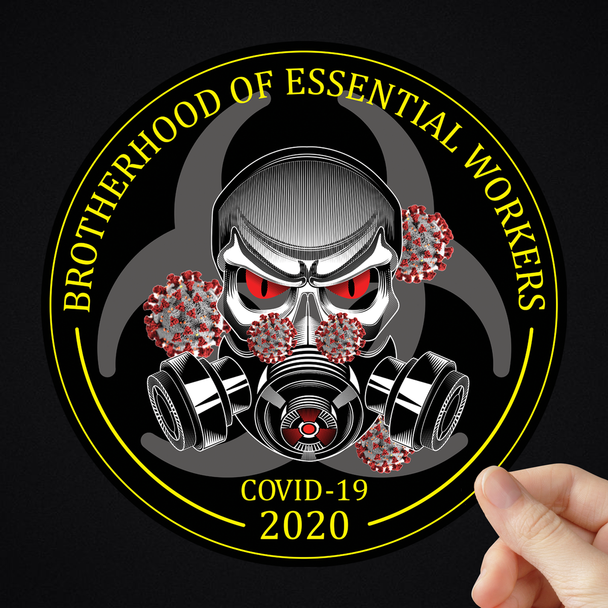 Brotherhood Of Essential Workers Sticker 2 Sizes