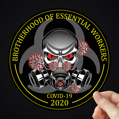 Brotherhood Of Essential Workers Sticker (2 Sizes Available)