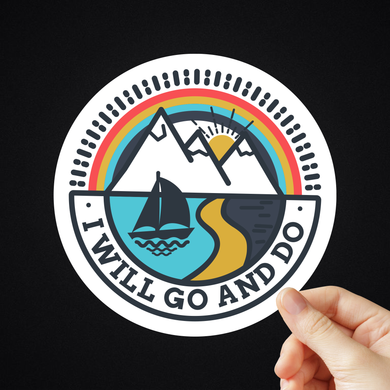 Strive I Will Go And Do Stickers (Design 2)