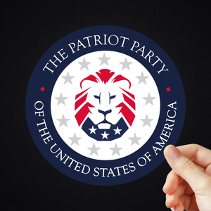 "5"" The Patriot Party Sticker"