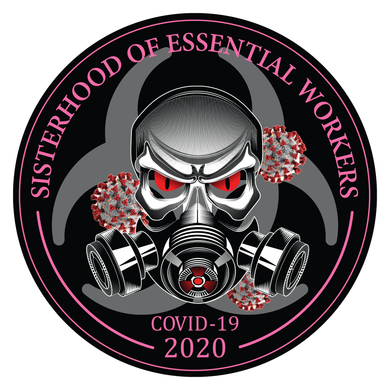 Sisterhood Of Essential Workers Sticker (2 Sizes Available)