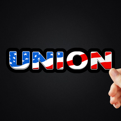 Union American Flag Sticker (2 Sizes Available)