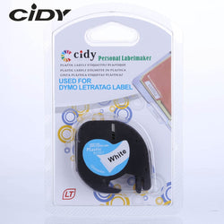 Mixed Color CIDY Compatible 12mm Black on white Dymo
