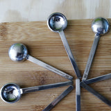 POPS Set of 4 vintage inspired spoons for coffee, desert or eggs, Made in France
