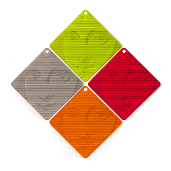 Lib Editeurs D'idees MONA Multi-Functional Trivet inspired by Leonardo da Vinci's Mona Lisa Made in France from foodsafe Silicone