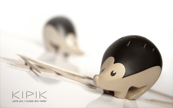 KIPIK Hedgehog Toothpick Holder Made from Recycled Resin