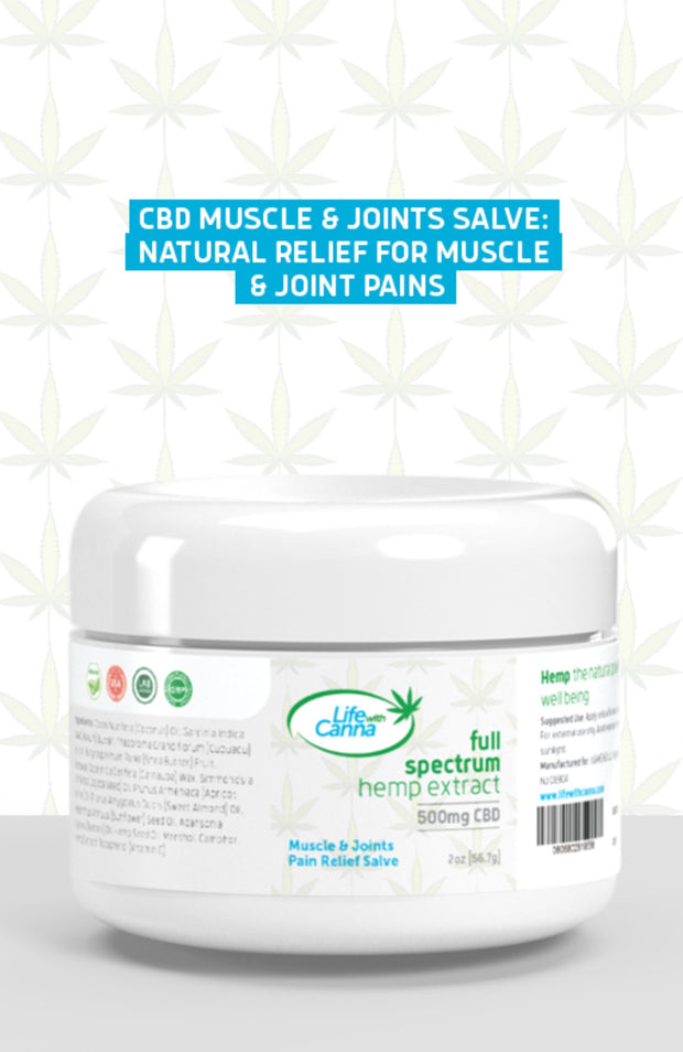 Muscle and Joints Pain Relief CBD Salve (500 mg)