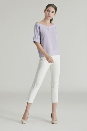 Auden V-cut Off Shoulder Top