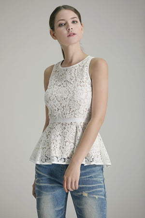Arlet Lace Peplum Top