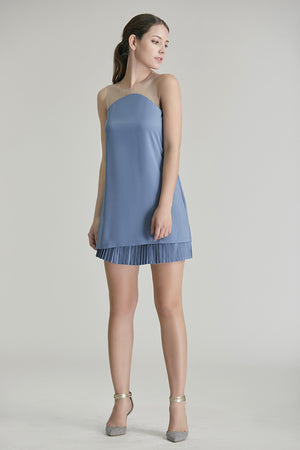 Abelle Mesh U Pleated Dress