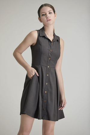 Adele Button Down Shirt Dress
