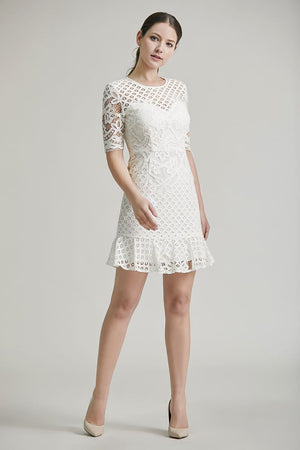 Andrea Lace Trumpet Dress