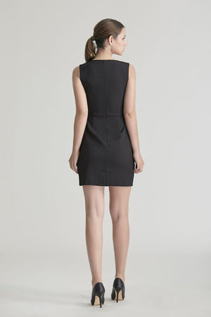 Ayan V-Colourblack Shift Dress