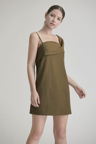 Ava Drape Strip Shift Dress
