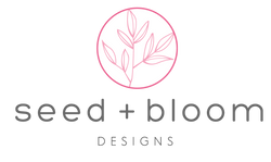 Seed and Bloom Designs plant branches featuring simple lined leaves