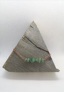 Green Aventurine Gemstone Chip Copper Necklace