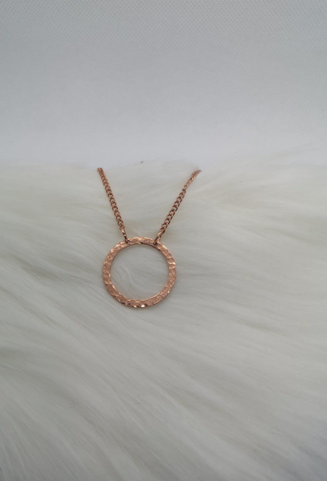 Boho Hammered Copper Necklace