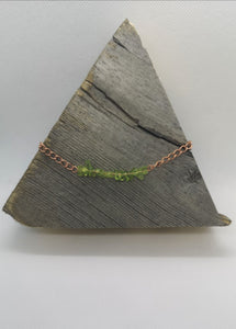 Peridot Gemstone Chip Copper Necklace