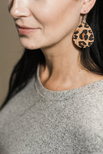 Load image into Gallery viewer, Leopard Print Cork Earrings