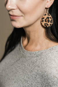 Leopard Print Cork Earrings