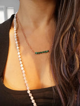 Load image into Gallery viewer, Malachite chip copper necklace