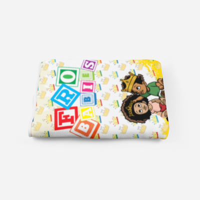 NEW Crowns and Blocks  Plush Blanket