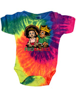 TIE DYE EDITION: The Infamous Frobabies Signature Logo Short Sleeve Onesie