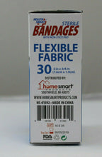 Load image into Gallery viewer, 10 pk Health Smart Sheer Strips Bandages With Non Stick Pad 30 In Each Box