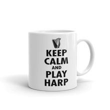 Laden Sie das Bild in den Galerie-Viewer, Tasse | beidseitig bedruckt | Keep Calm And Play Harp