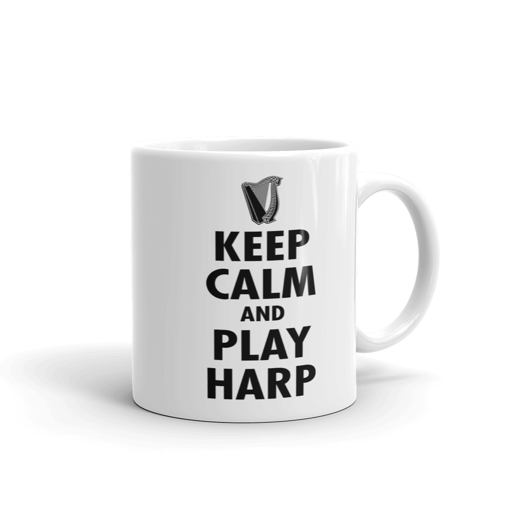 Tasse | beidseitig bedruckt | Keep Calm And Play Harp