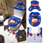 Christmas Snowman Decorative Toilet Set - ValasMall