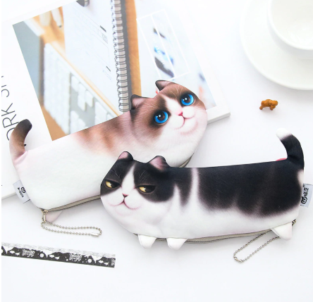 2019 NEW Cartoon Cat Soft Pencil Case - ValasMall