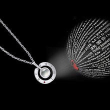 "Load image into Gallery viewer, 100 Languages ""I Love You"" Projection Necklace & Ring"