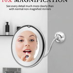 LED 10x Magnification Mirror