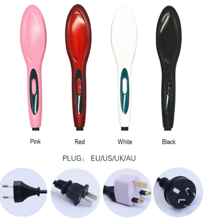 New Electric Hair Straightener Brush - ValasMall