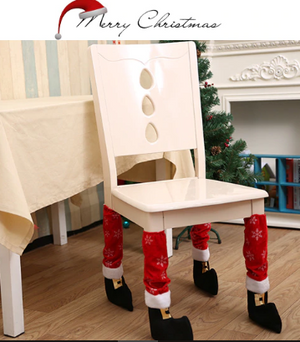 XMAS Party Decoration Funny Chair Leg - ValasMall