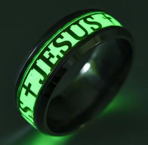 Glow In The Dark JESUS Luminous Ring - ValasMall