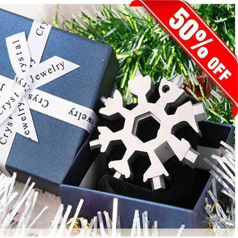 18 in 1 Stainless Steel Snowflakes Multi-tool
