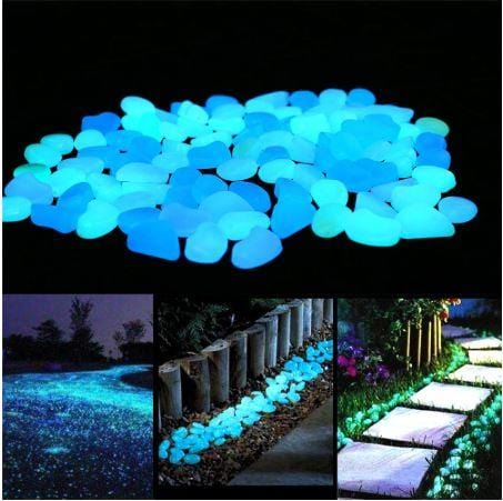 Glow in the Dark Pebbles (50 pcs Set)