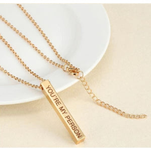 Engraved 3D Custom Name Bar Necklace