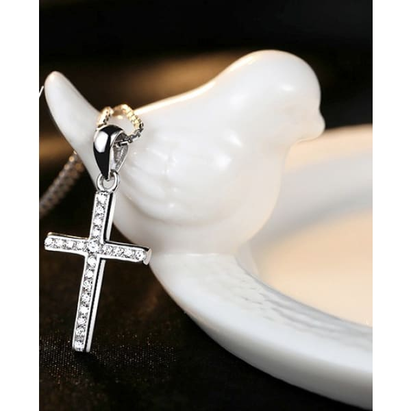 Luxury Silver Cross Necklace - ValasMall