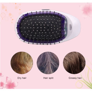 PORTABLE ELECTRIC IONIC HAIRBRUSH - ValasMall