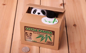 Automatic Money Box Combo [Panda+Cat] - ValasMall
