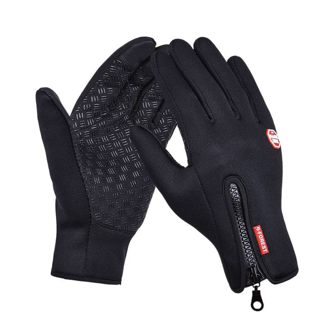 Soft Leather Winter Warm Gloves - ValasMall