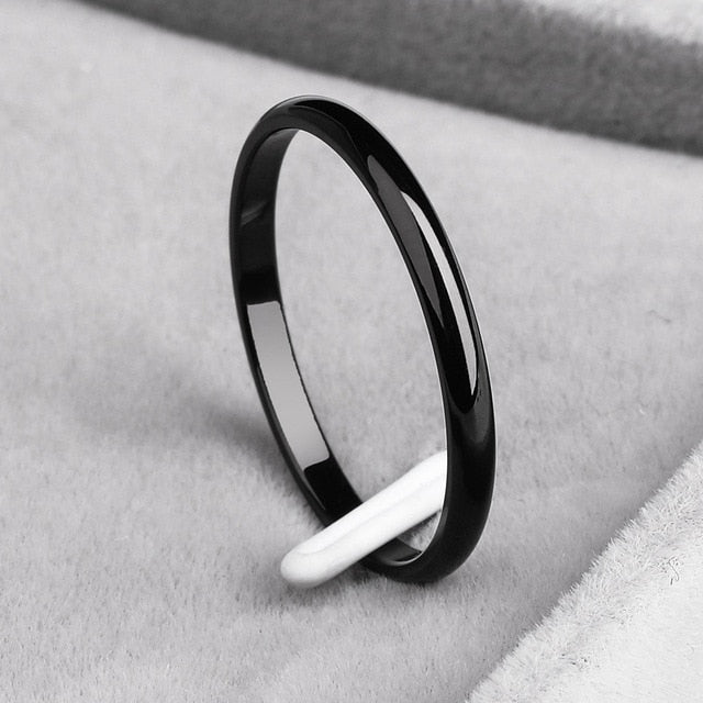 Titanium Smooth Stylist Ring - ValasMall