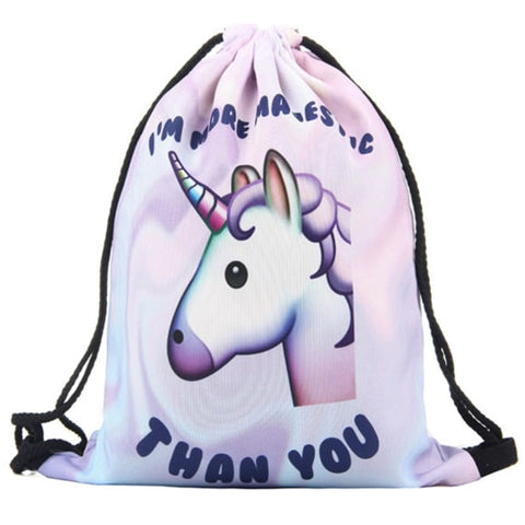 Unicorn 3D Printing Fashionable Bag - ValasMall