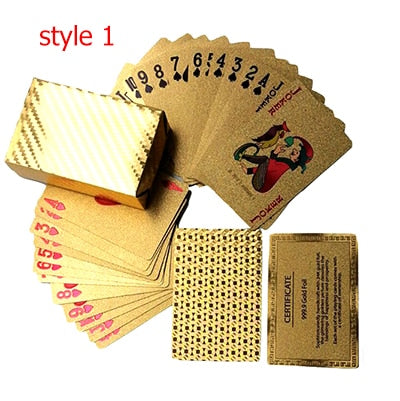 Waterproof Golden Playing Durable Cards - ValasMall